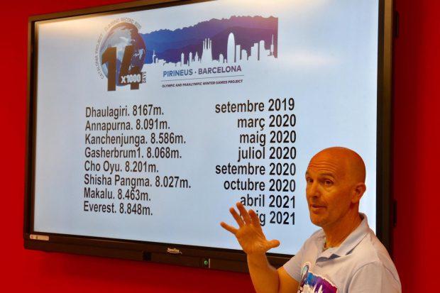 Sergi Mingote prezentuje swój plan w Barcelonie (fot. Sergi Mingote)