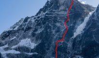 Rosyjska droga zachodnią ścianą Kyazo Ri (fot. mountain.ru)