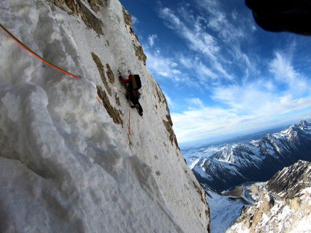 Francuzi w zachodniej ścianie Grosvenor (6376 m)
