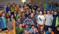 Duża część uczestników zgrupowania w schronisku przy Zielonym Stawie (fot. GM)