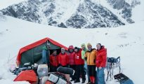 Ekipa Moro w bazie pod Gasherbrumami (fot. FB Simone Moro)