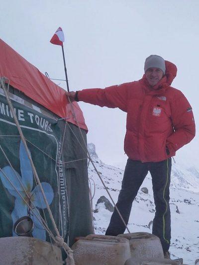 Denis Urubko w bazie (fot. FB Denis Urubko)