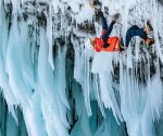 "Tim Emmett na ""Mission to Mars"" WI 13, Helmcken Falls (fot. Jon Glassberg / Louder than 11)"