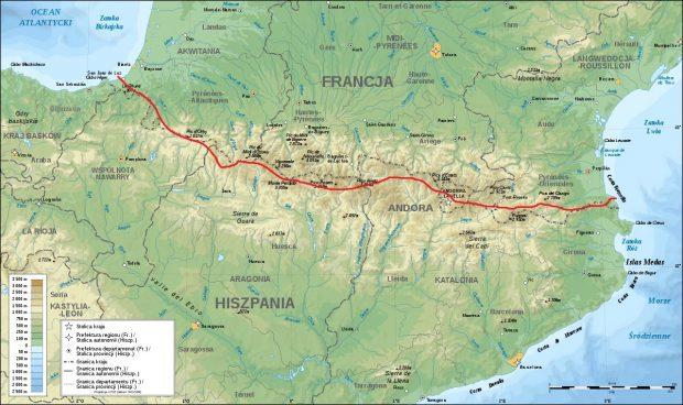 Narciarski trawers Pirenejów - trasa
