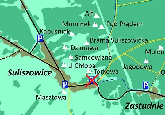 Mapa Suliszowice