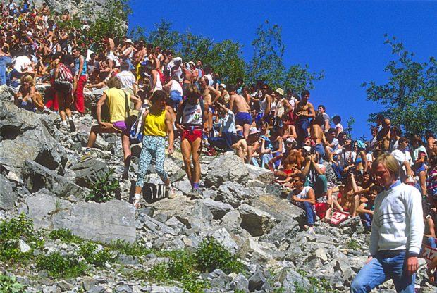 Widownia w Bardonecchia, 1985 rok