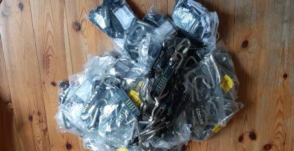 Część sprzętu przekazanego przez firmę Edelrid