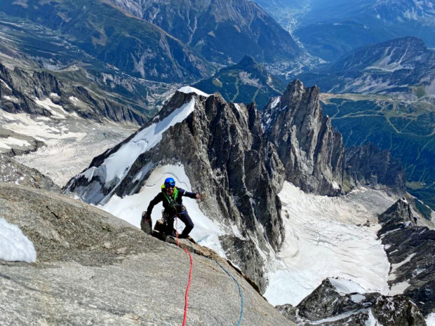 Filip Babicz robi ostatnie metry la Chandelle (fot. Denis Trento)