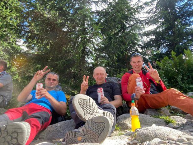 Team Make Kobylany Great Again: Maciek Hebda. Rafał Nowak i Michał Czubak