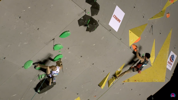 Wymarzony kadr: Janja Ganbert i Adam Ondra razem w półfinałach