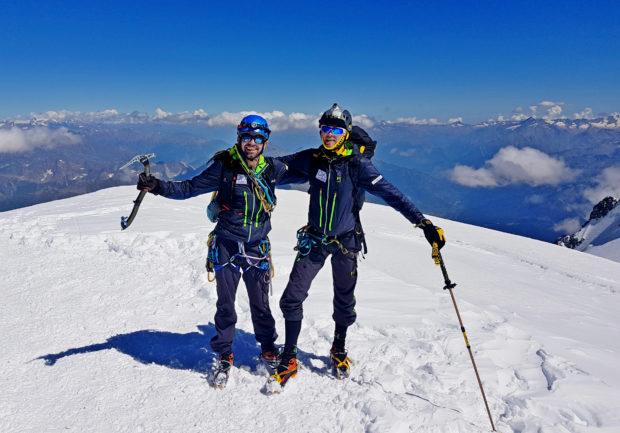 Na szczycie Mont Blanc (fot. arch. Filip Babicz)