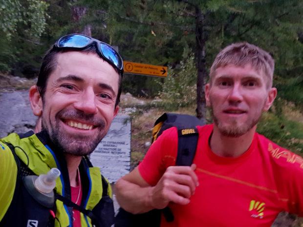Filip Babicz i Denis Trento po skończonej akcji (fot. Filip Babicz)