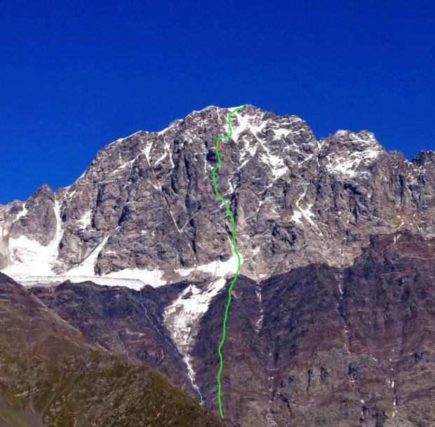 Nową linia na południowo-zachodniej ścianie Ailama (4560 m)