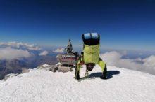 Rustam Nabiew na szczycie Elbrusa (5642 m)