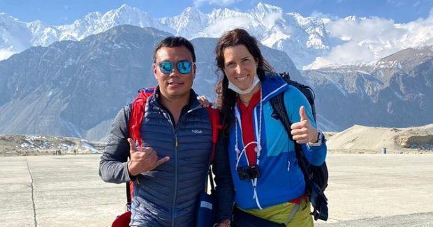 Kierownik wyprawy, Chhang Dawa Sherpa i włoska himalaistka Tamara Lunger (fot. SST FB)