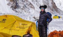 Magda Gorzkowska w bazie pod K2 (fot. FB Magda Gorzkowska)
