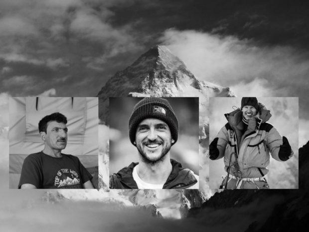 Ali Sadpara, Juan Pablo Mohr i John Snorii (fot. w tle Kacper Tekieli)