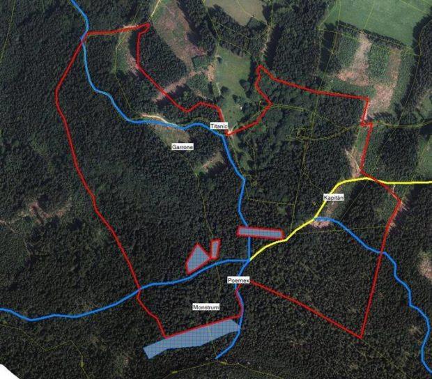 Obszar dozwolony dla wspinaczki w Borze