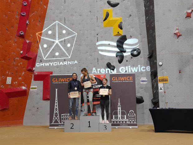 Seniorki, prowadzenie: 1. Ida Kupś, 2. Małgorzata Rudzińska, 3. Zuzanna Mientus