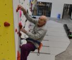 Marcel Rémy na ścianie w Satigny (fot. lafabriqueverticale.com)