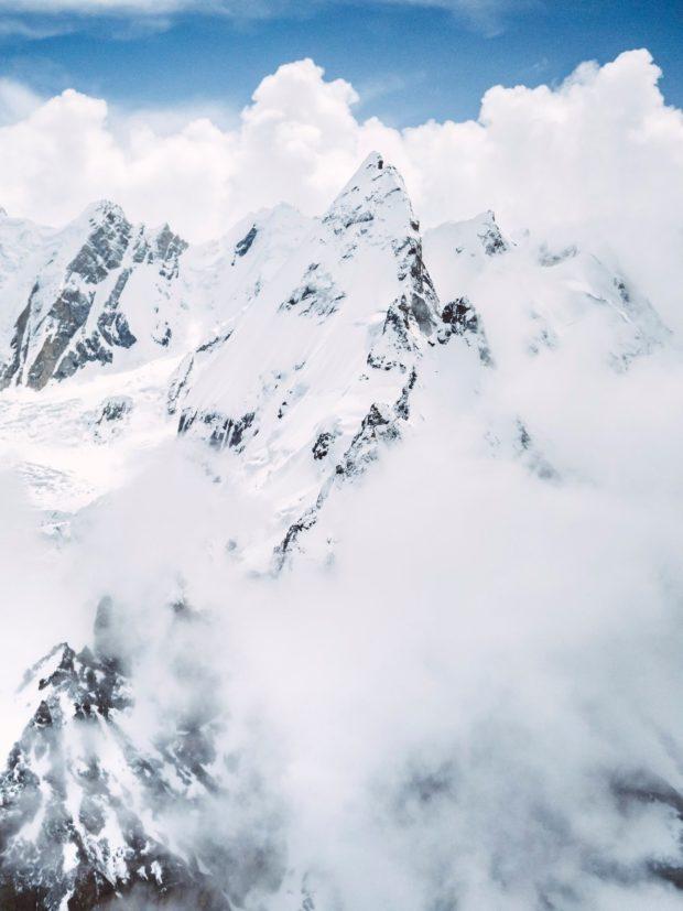 Laila Peak w Dolinie Hushe - widok od strony base campu