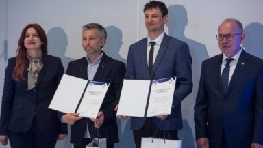 Na zdjęciu od lewej: Hanna Wawrowska, Piotr Tomala, Adam Bielecki, Mieczysław Nowicki (fot. PKOl)