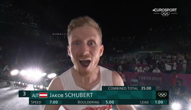 Jakob Schubert najlepszym zawodnikiem prowadzenia i brązowym medalistą olimpijskim