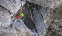 "Christoph Schranz na ""Ocha-Schau-Schuich"" (8c, 300 m), Hohe Munde, Tyrol"
