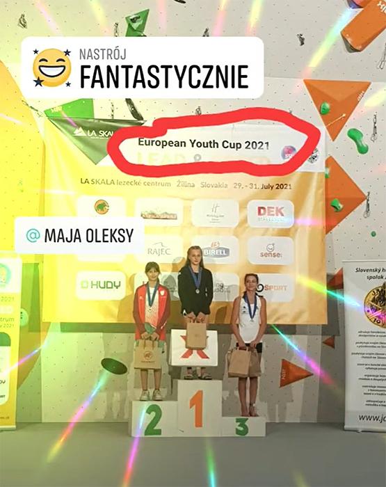 Maja Oleksy ze srebrnym medalem PE Juniorów w Żylinie