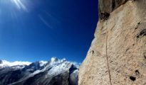 "Wspinanie na ""Cruz del sur"" 7c+, 800 m, Sfinks, Peru"