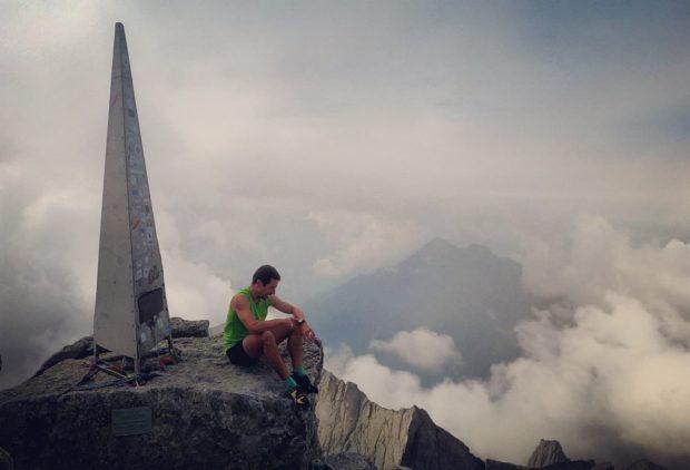 Filip Babicz na szczycie Piz Badile