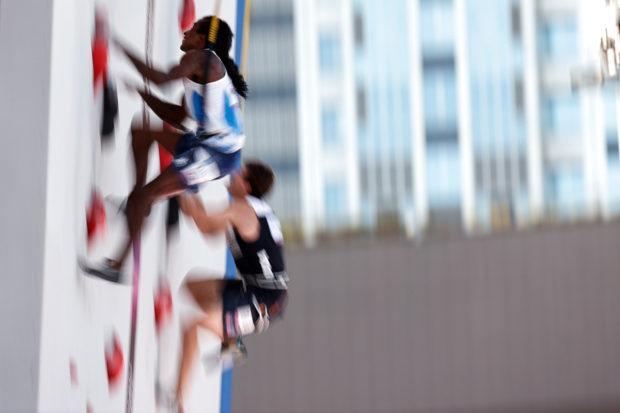 Mickael Mawem, Igrzyska w Tokio (fot. Leo Zhukov/IFSC)