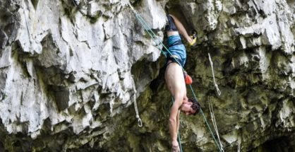 Adam Ondra w jaskini Býčí skála, Morawski Kras (fot. Iva Ondra)