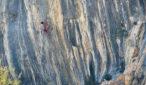 "Jonathan Siegrist na drodze ""Lapsus"" 9a+/b (fot. arch. J. Siegrist)"